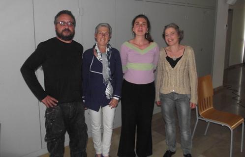 Liuba Scudieri et Davide Chimenti avec Sophie Marty et Elisabeth Tempier.