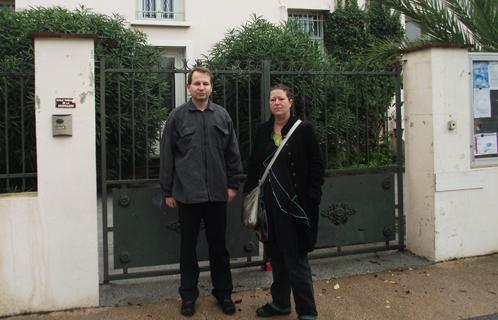Jean-Marc Bonifay, président d'APACA et la maman d'Arthur, Laurence.