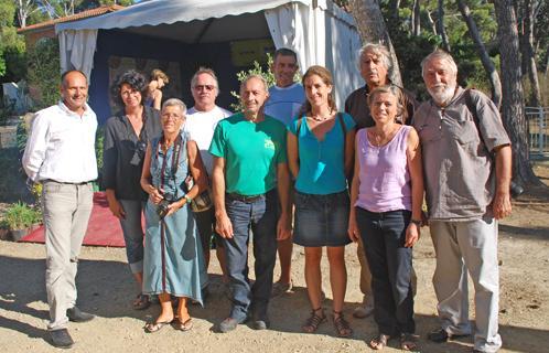 Ici on retrouve Pierre Mollo (sur la droite), l'élu Joseph Mulé, Paule Zucconi, Morgane Nédélec, Sophie Marty,  Lucien Biolatto, Christian Connaulte, Jean-Michel Céi et Daniel Hildebrandt.