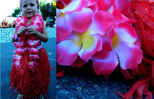 L'île des Embiez aborde les couleurs polynésiennes grâce à des distributions de jupes tahitiennes, par exemple...